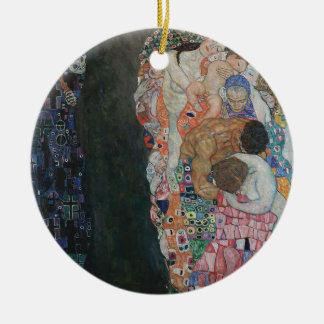 Gustav Klimt - Death and Life Art Work Ceramic Ornament