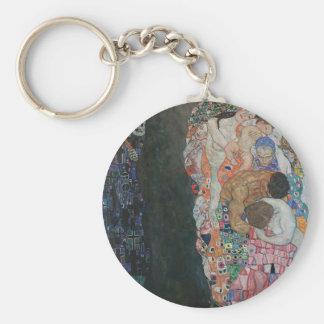 Gustav Klimt - Death and Life Art Work Keychain