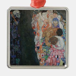 Gustav Klimt - Death and Life Art Work Metal Ornament