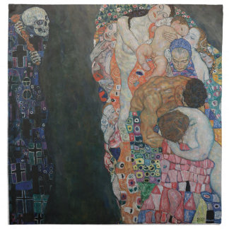 Gustav Klimt - Death and Life Art Work Napkin