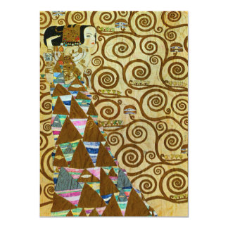Gustav Klimt Expectation Invitations