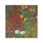 Gustav Klimt Farm Garden with Sunflowers Canvas