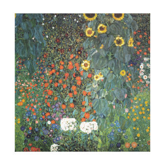 Gustav Klimt Farm Garden with Sunflowers Canvas Print