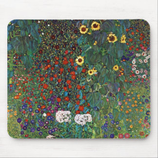 Gustav Klimt Farm Garden with Sunflowers Mouse Pad