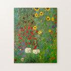 Gustav Klimt Farm Garden with Sunflowers Puzzle