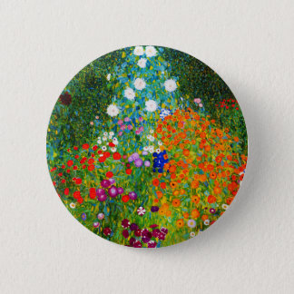 "Gustav Klimt, ""Farmhouse garden"" 2 Inch Round Button"