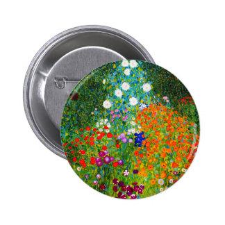 """Gustav Klimt, """"Farmhouse garden"""" 2 Inch Round Button"""
