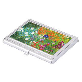"""Gustav Klimt, """"Farmhouse garden"""" Business Card Holder"""