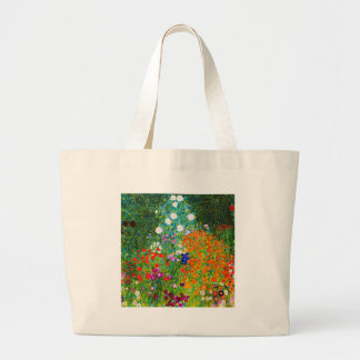 "Gustav Klimt, ""Farmhouse garden"" Large Tote Bag"