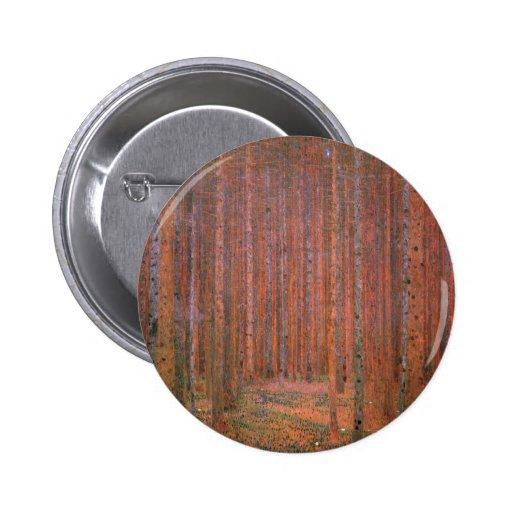 Gustav Klimt Fir Forest Tannenwald Red Trees Pinback Button