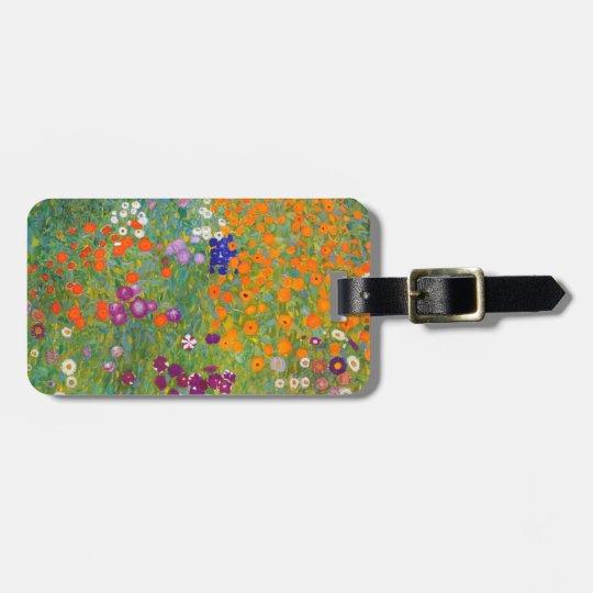 Gustav Klimt: Flower Garden Bag Tag