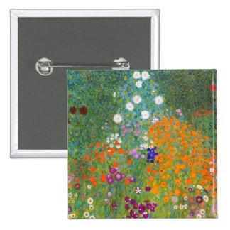 Gustav Klimt: Flower Garden Pinback Buttons