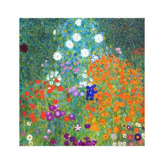 Gustav Klimt Flower Garden Canvas Print