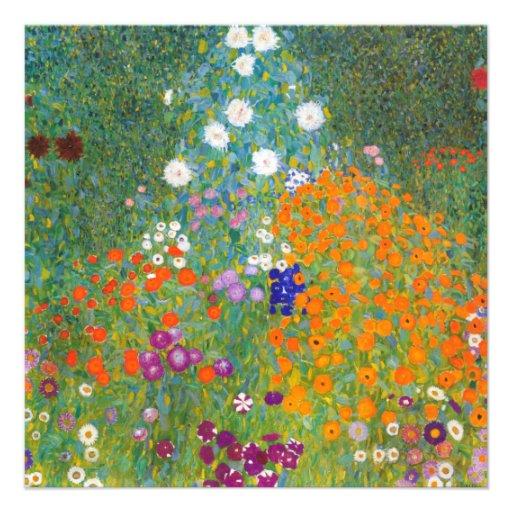 Gustav Klimt: Flower Garden Invites