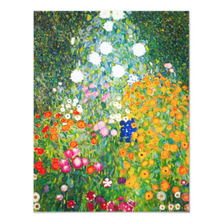 Gustav Klimt Flower Garden Invitations