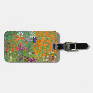 Gustav Klimt: Flower Garden Luggage Tag