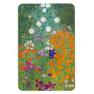 Gustav Klimt: Flower Garden Rectangular Photo Magnet