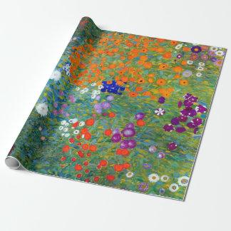 Gustav Klimt Flower Garden Wrapping Paper