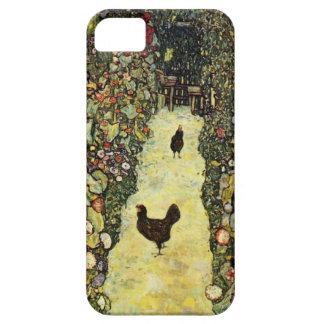 Gustav Klimt Garden path with chickens iPhone 5 Case
