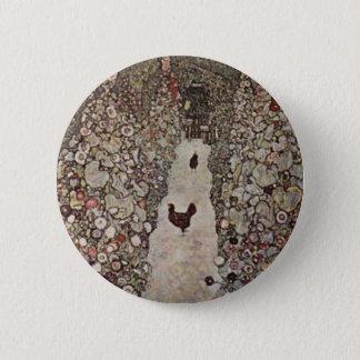 Gustav Klimt - Garden with Roosters 2 Inch Round Button