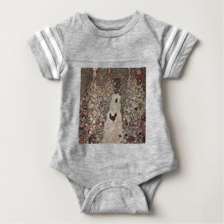 Gustav Klimt - Garden with Roosters Baby Bodysuit