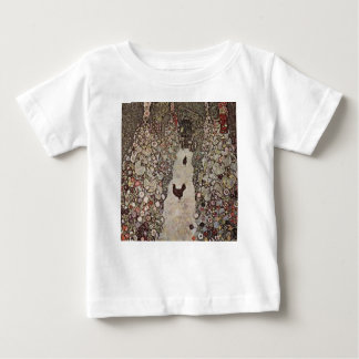 Gustav Klimt - Garden with Roosters Baby T-Shirt