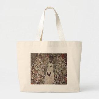 Gustav Klimt - Garden with Roosters Large Tote Bag