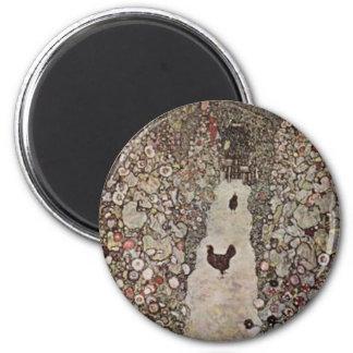 Gustav Klimt - Garden with Roosters Magnet