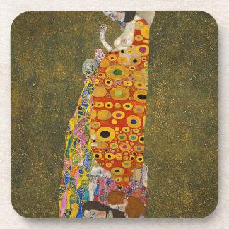 Gustav Klimt - Hope II - Beautiful Artwork Coaster