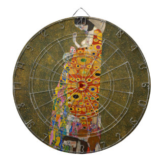 Gustav Klimt - Hope II - Beautiful Artwork Dartboard