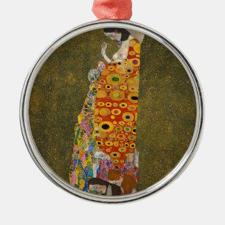 Gustav Klimt - Hope II - Beautiful Artwork Metal Ornament