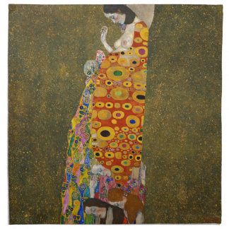 Gustav Klimt - Hope II - Beautiful Artwork Napkin