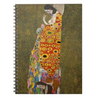 Gustav Klimt - Hope II - Beautiful Artwork Notebook