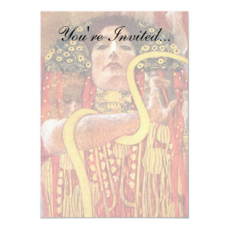 "Gustav Klimt - Hygieia Medicine Goddess of Health 5"" X 7"" Invitation Card"