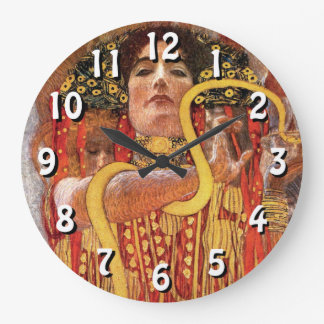 Gustav Klimt - Hygieia Medicine Goddess of Health Large Clock