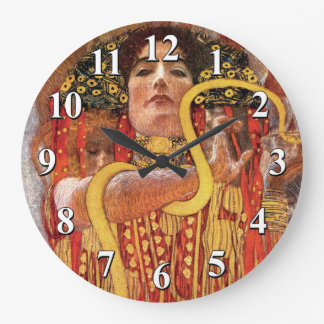 Gustav Klimt - Hygieia Medicine Goddess of Health Wall Clock
