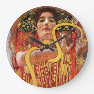 Gustav Klimt - Hygieia Medicine Goddess of Health Wall Clocks