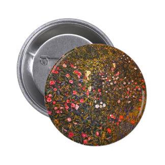 Gustav Klimt Italenische Gartenlandschaft Button