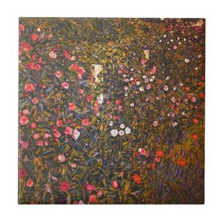 Gustav Klimt // Italenische Gartenlandschaft Tile