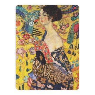 Gustav Klimt Lady With Fan Art Nouveau Painting Card
