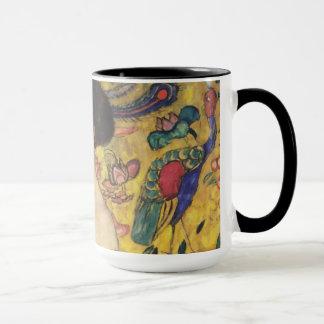 Gustav Klimt Lady With Fan Art Nouveau Painting Mug
