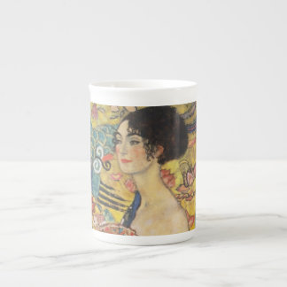Gustav Klimt Lady With Fan Art Nouveau Painting Tea Cup