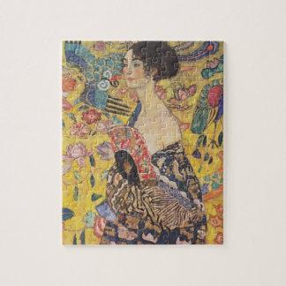 Gustav Klimt- Lady with Fan Jigsaw Puzzle