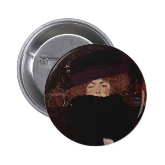 Gustav Klimt- Lady with Hat and Featherboa Pin