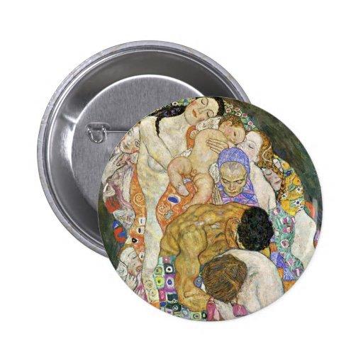 Gustav Klimt Life and Death Button