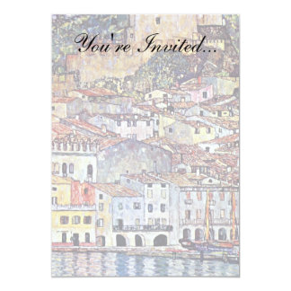 "Gustav Klimt - Malcesine at Lake Garda Italy 5"" X 7"" Invitation Card"
