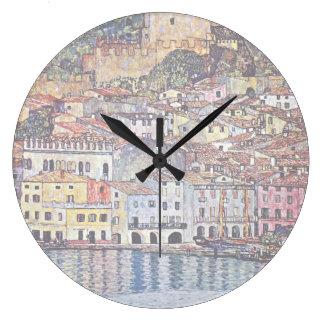 Gustav Klimt - Malcesine at Lake Garda Italy Clocks