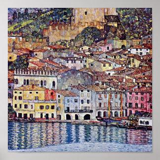 Gustav Klimt - Malcesine at Lake Garda Poster