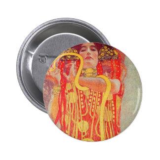 Gustav Klimt - Medizin Pinback Buttons