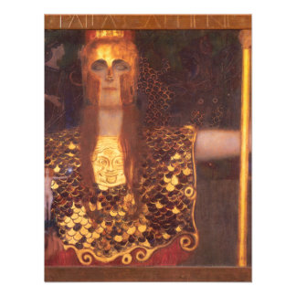 Gustav Klimt Minerva Pallas Athena Invitations